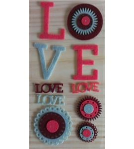 Fieltro cosido oldies love - 13070013