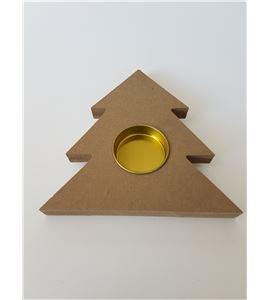 """Porta velas madera dm """"abeto"""" 130mm - 14001397"""