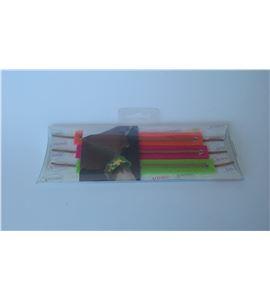Fieltro set 3 pulseras naranja / rosa / verde - FE55A3