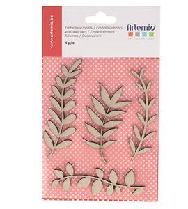 Accesorios decorativos de conglomerado - hojas - 11060429