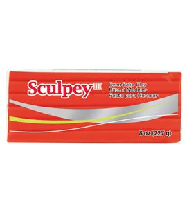 Sculpey iii - red hot red 227g. - 32583