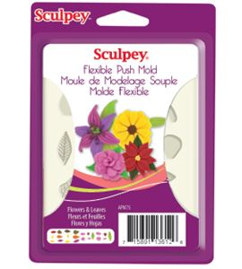 Molde sculpey - flowers & leaves - APM75