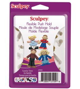 Molde sculpey - family time - 9304