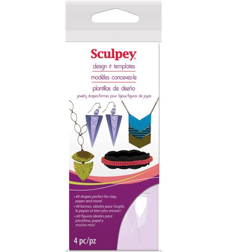 Material auxiliar sculpey - jewelry shape template - AS2137