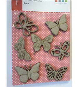Accesorios decorativos de conglomerado - mariposas - 11060431-1