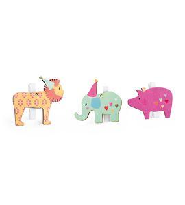 Pinzas decorativas, animales de cumpleaños - 10001