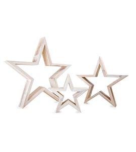Figura decorativa estrella, blanca - 10212