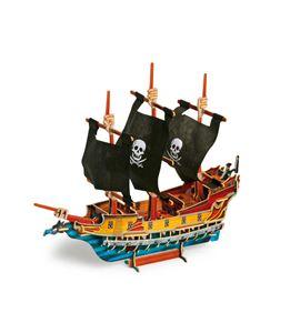 Puzle 3d barco pirata - 1404
