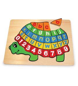 Puzle de madera, tortuga abc - 2423