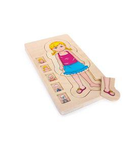 Puzle de madera, anatomía - 5814