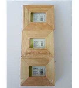 Juego de 3 marcos porta fotos madera 6x5cm - VICAPF0304