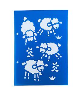 Plantilla / stencil - ovejitas - 7250120004