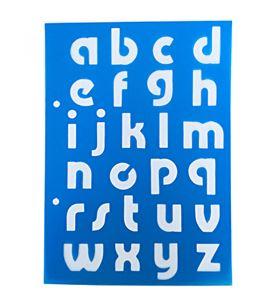 Plantilla / stencil - abecedario minúsculas - 7250120010