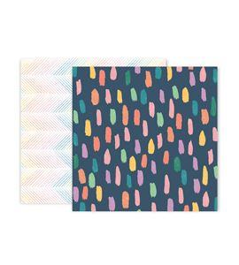 Hoja de papel de scrapbook - brush - 310691