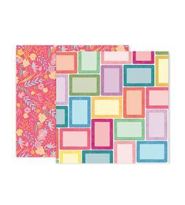 Hoja de papel de scrapbook - frames - 310696