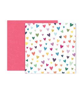 Hoja de papel de scrapbook - hearts - 310700