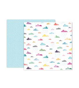 Hoja de papel de scrapbook - clouds - 310704