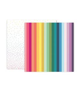 Hoja de papel de scrapbook - rainbow - 310705