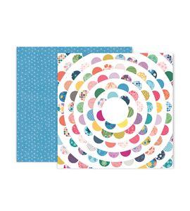 Hoja de papel de scrapbook - circles - 310712
