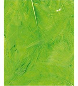 Plumas fantasía tipo plumón verdes - 13030014