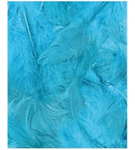 Plumas fantasía tipo plumón turquesa - 13030015