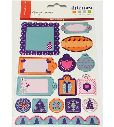 Etiquetas adhesivas de cartón - navidad - 11004099