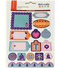 Etiquetas adhesivas de cartón - navidad