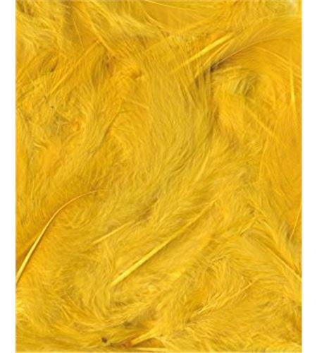 Plumas fantasía tipo plumón amarillas - 13030017