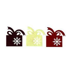 Set de regalos de fieltro - rojo/blanco/granate - FE174A01