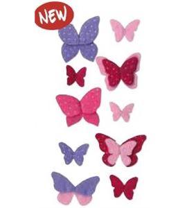Fieltro mariposas rosa / violeta - 13070135