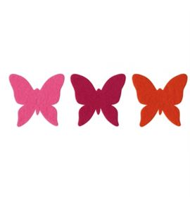 Fieltro 6 mariposas flor - FE83A01