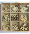 Set de mini siluetas de madera - duendes navidad