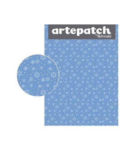 Papel de decoupage - nieve azul - 12003060