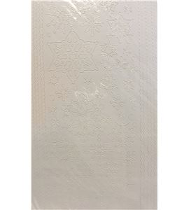 Adhesivos peel off´s - copos de nieve blancos - AC0232W