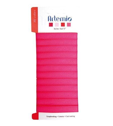 Cinta de tela para manualidades - rosa fucsia - 11005140
