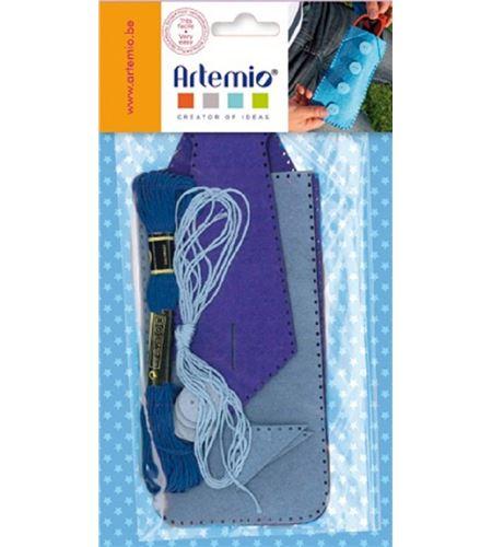 Kit de fieltro - estuche para lápices azul - 13070179