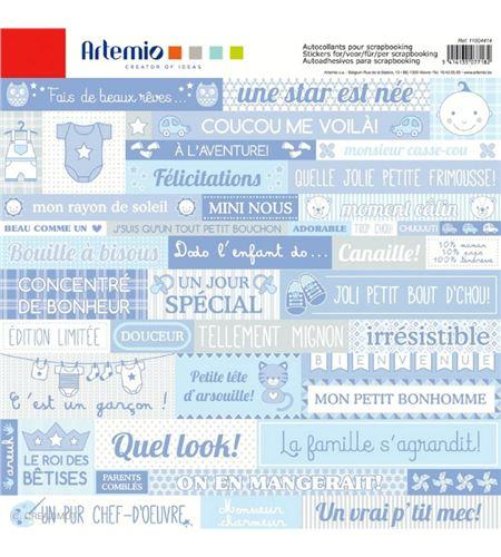 Etiquetas adhesivos para scrapbook - nacimiento bebé - 11004414