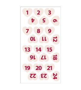 Números de fieltro adviento - corazones beige - 13070113-1
