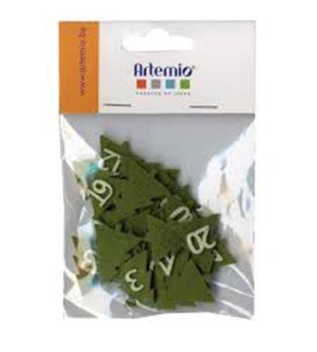 Números de fieltro adviento - avetos verde - 13070114