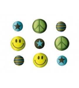Set de botones bordados - emoticono - 13064001