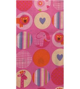 Tela de algodón - animales rosa - 13062003