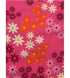 Tela de algodón - flores fucsia - 13062004