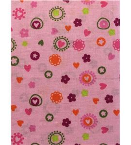Tela de algodón - corazones - 13062006