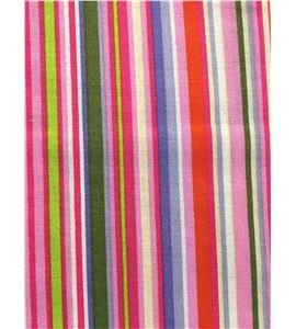 Tela de algodón - rayas multicolor rosa - 13062008