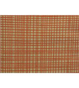 Tela de algodón - cuadro naranja - 13062015