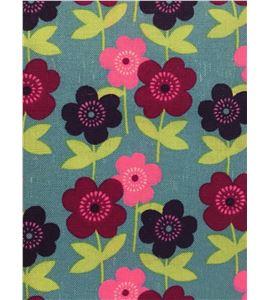 Tela de algodón - flores morado - 13062017