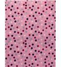Tela de algodón - topos rosa