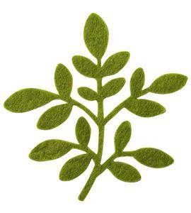 Fieltro 3 hojas oliva - FE10314