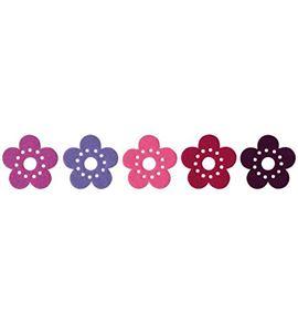 Fieltro 10 flores multicolor - FE88A02