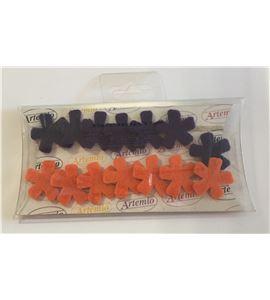 Set de flores de fieltro - morado/naranja - FE18AO